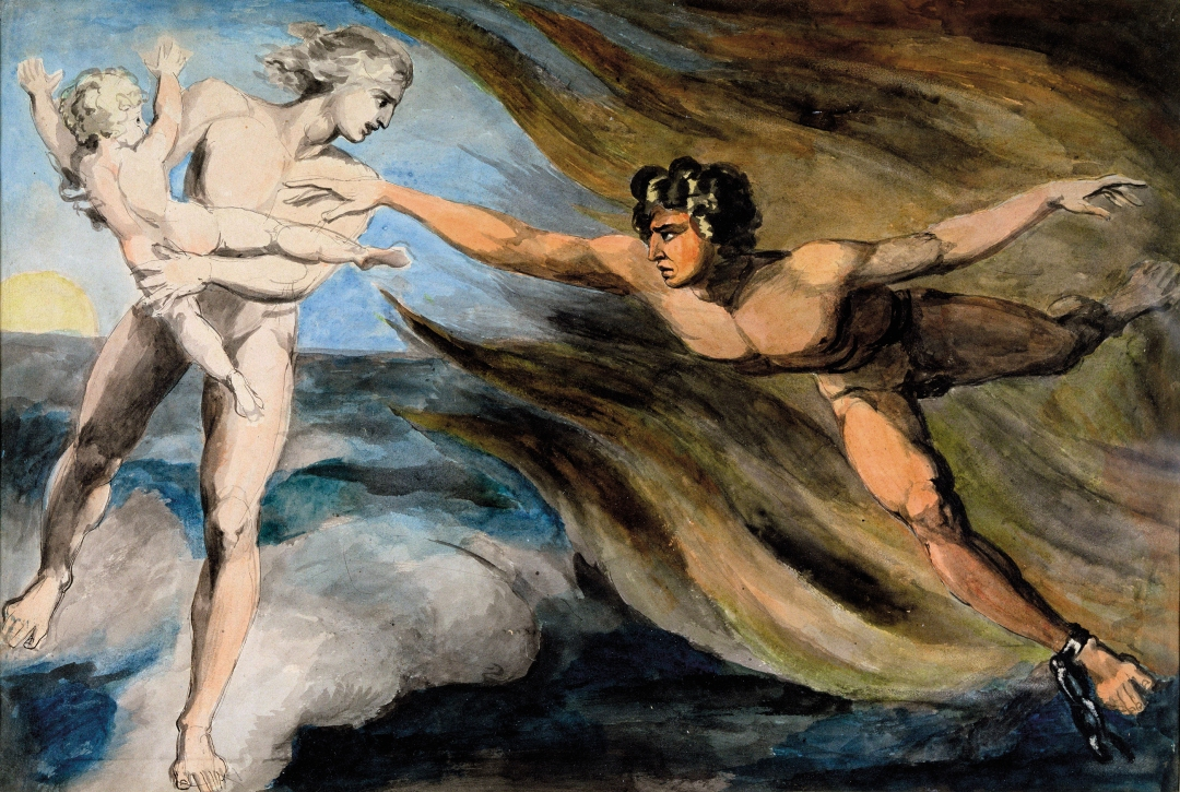 The Good and Evil Angels Struggling for Possession of a Child