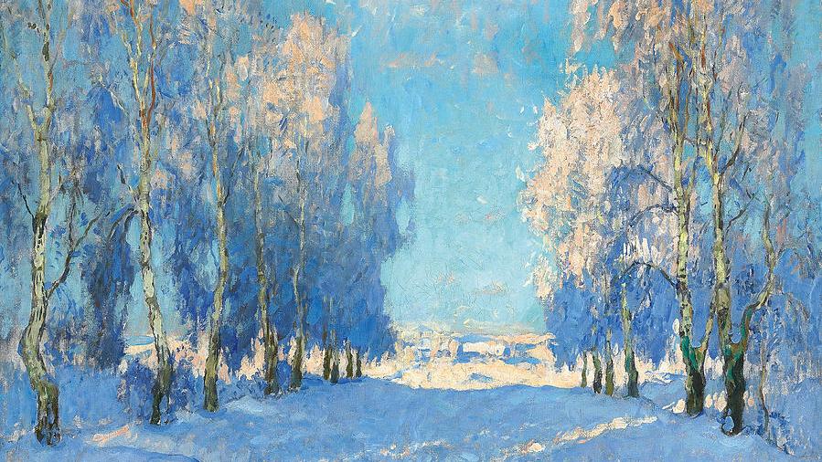 Konstantin Ivanovich Gorbatov - A Winter's Day, 1934