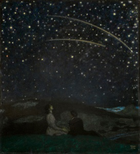 Franz von Stuck - Falling Stars (Franz and Mary Stuck), 1912