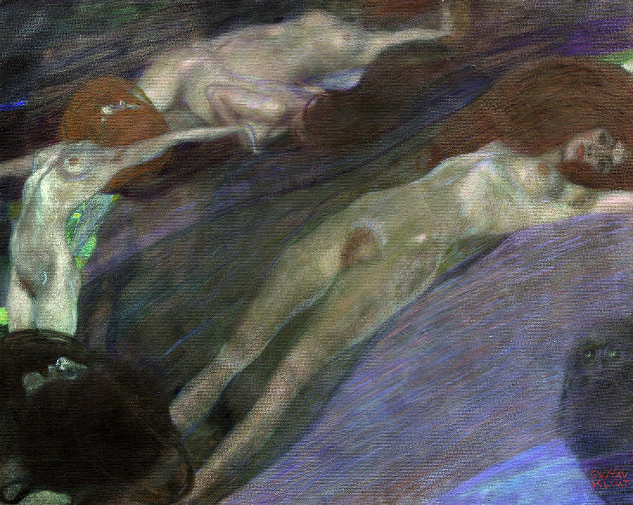 Gustav Klimt - Moving Water, 1898