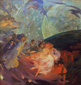 Paul-Albert Besnard - Truth Leading the Sciences, Giving Light to Man [1891] (cropped edges)