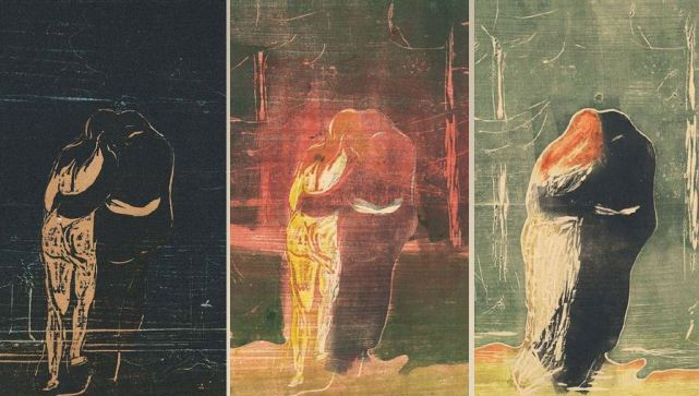 Edvard Munch, Toward the Forest, 1897c-1913, colour woodcut from two woodblocks