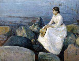 Edvard_Munch_-_Summer_night,_Inger_on_the_beach_(1889)