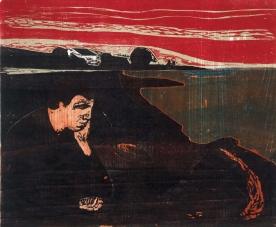 Edvard Munch - Evening. Melancholy I, 1896.