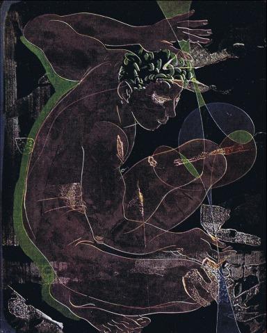 Hans Erni - Le Dessinateur or Kybernetes, 1956